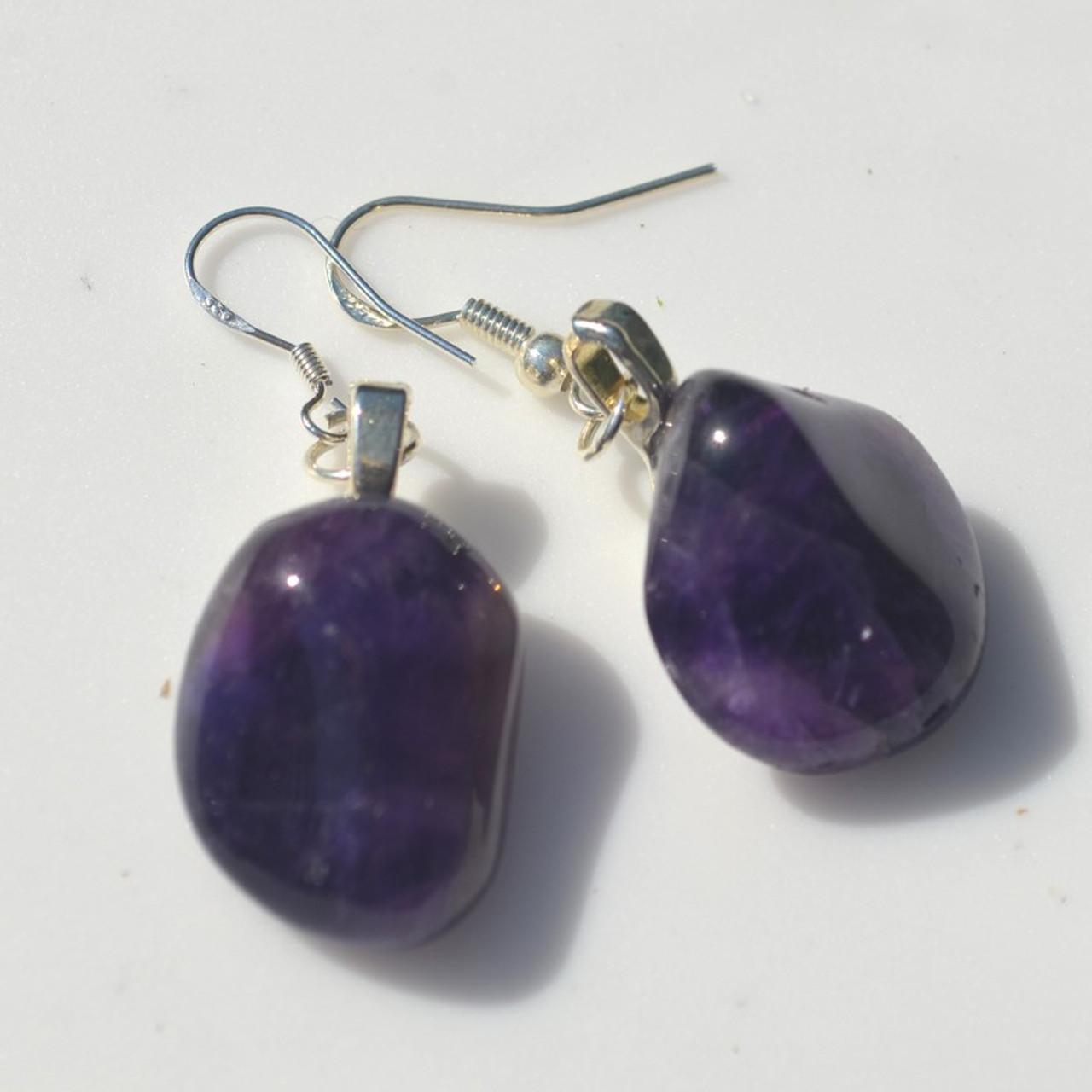 Amethyst Dangling Earrings - 1 Set - Made to Order