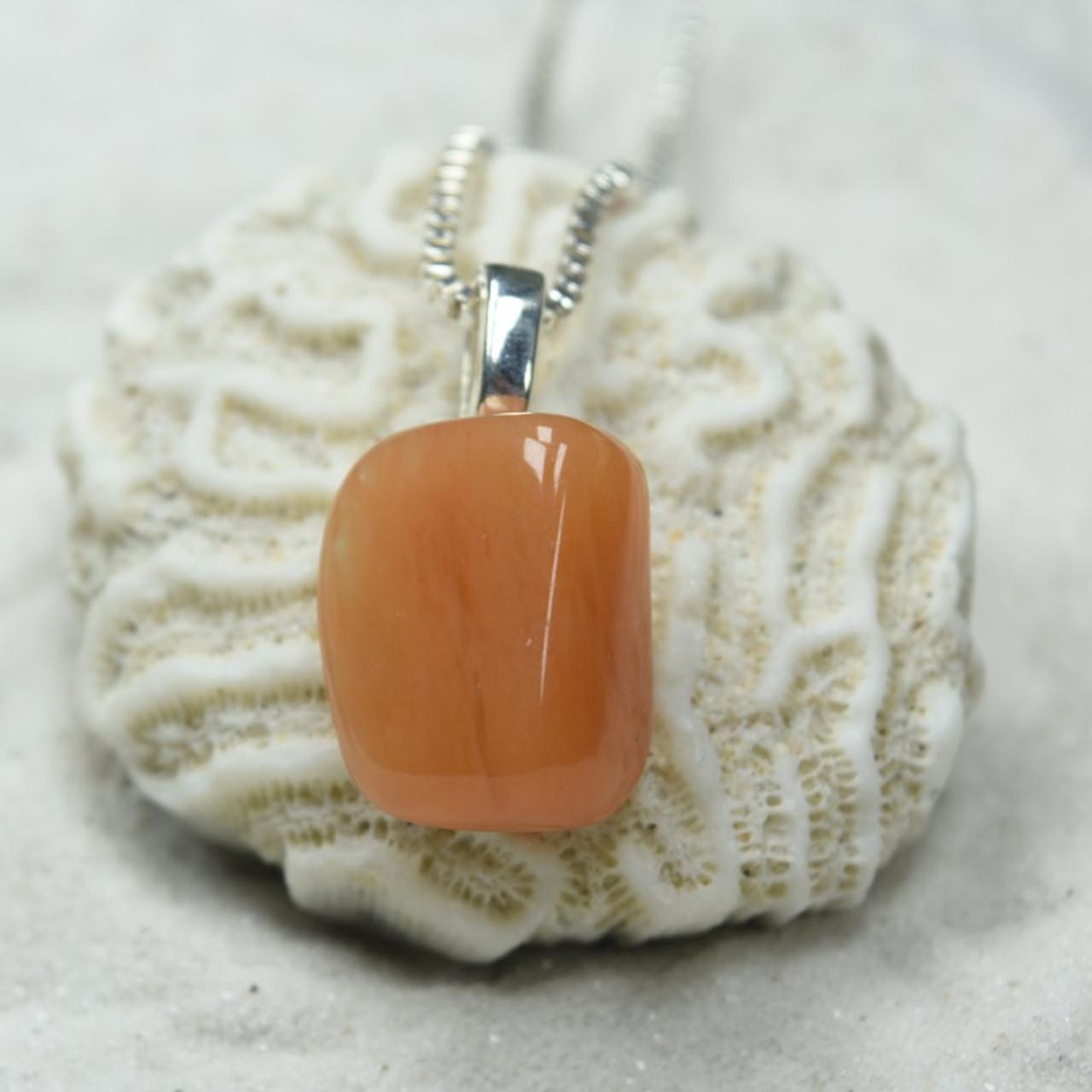 Tumbled Peach Quartz Pendant