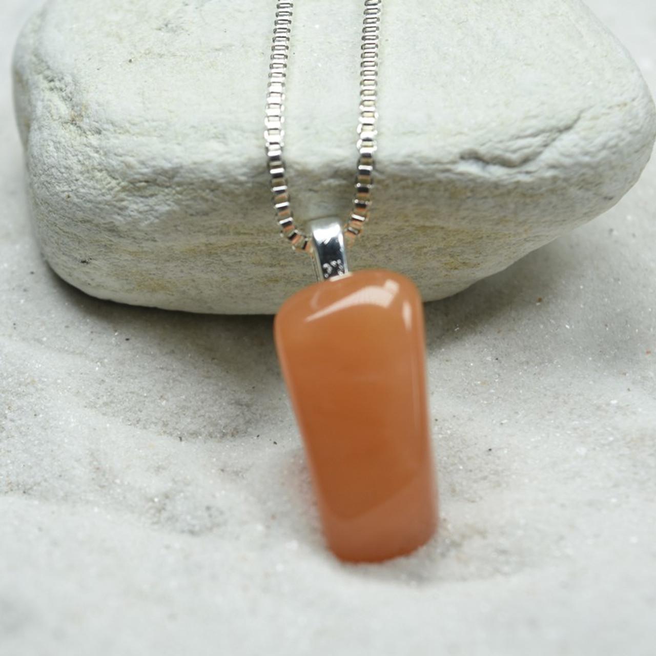 Tumbled Peach Quartz Necklace
