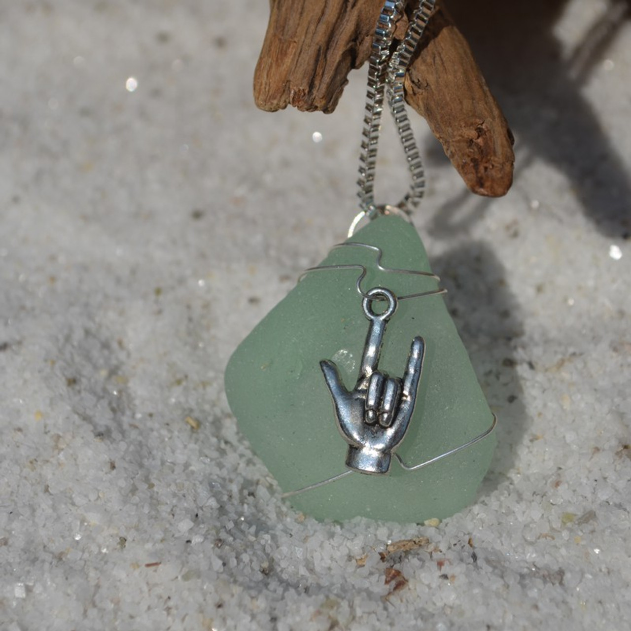 ASL I Love You Pendant and Necklace