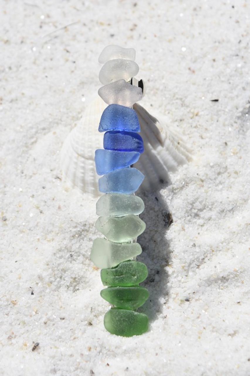 Rainbow Sea Glass French Barrette