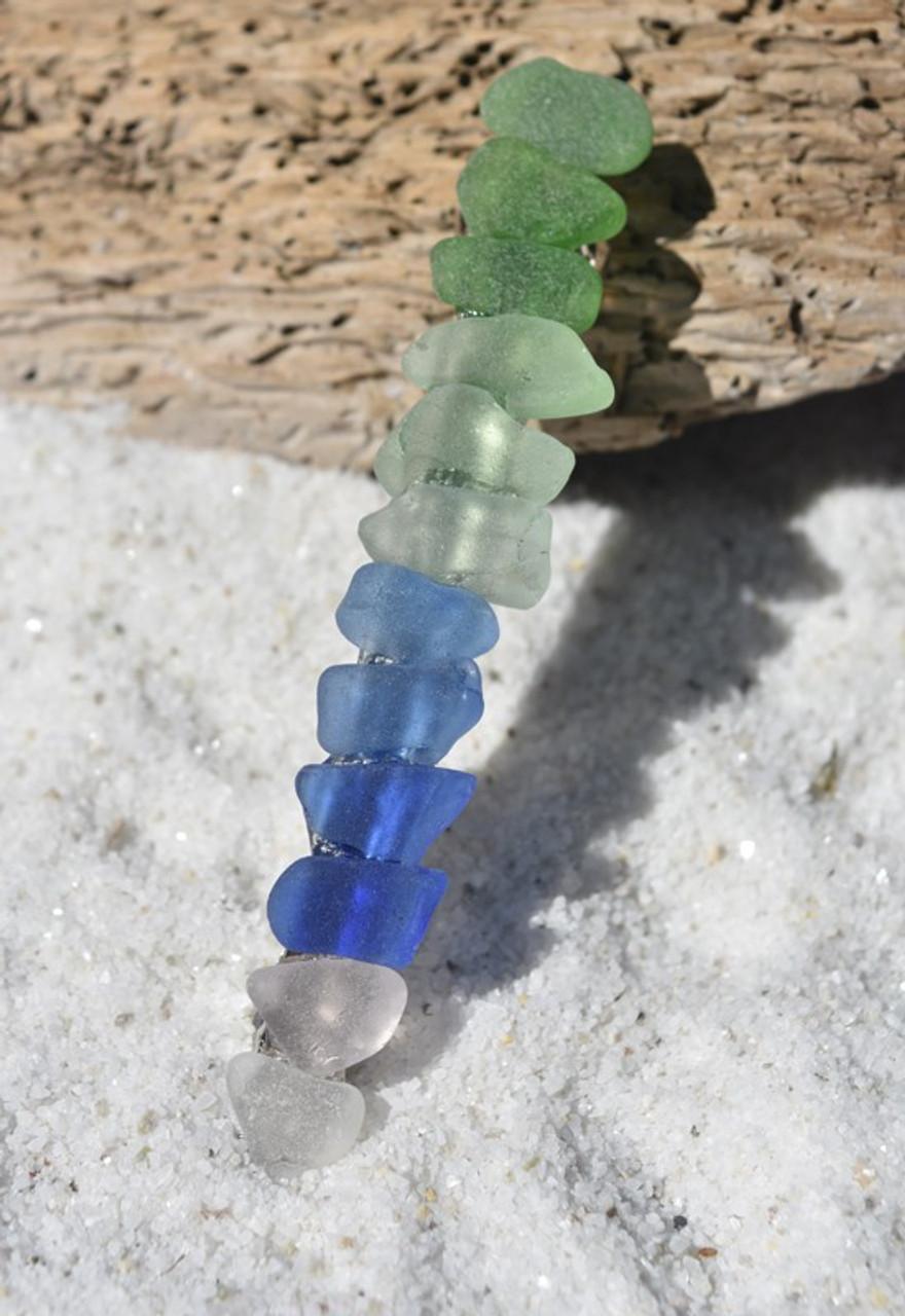 Rainbow Sea Glass Barrette
