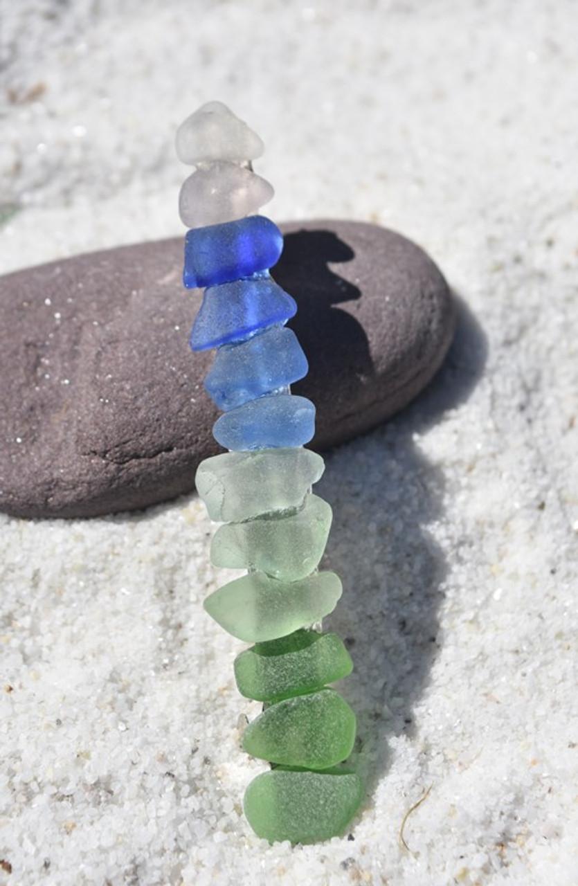 Rainbow Sea Glass Hair Clip