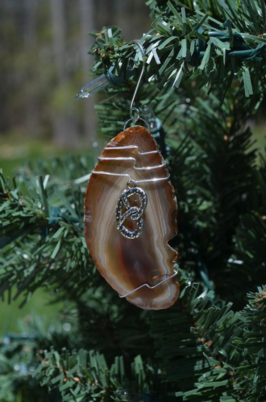 Wire Wrapped Pretzel Ornament