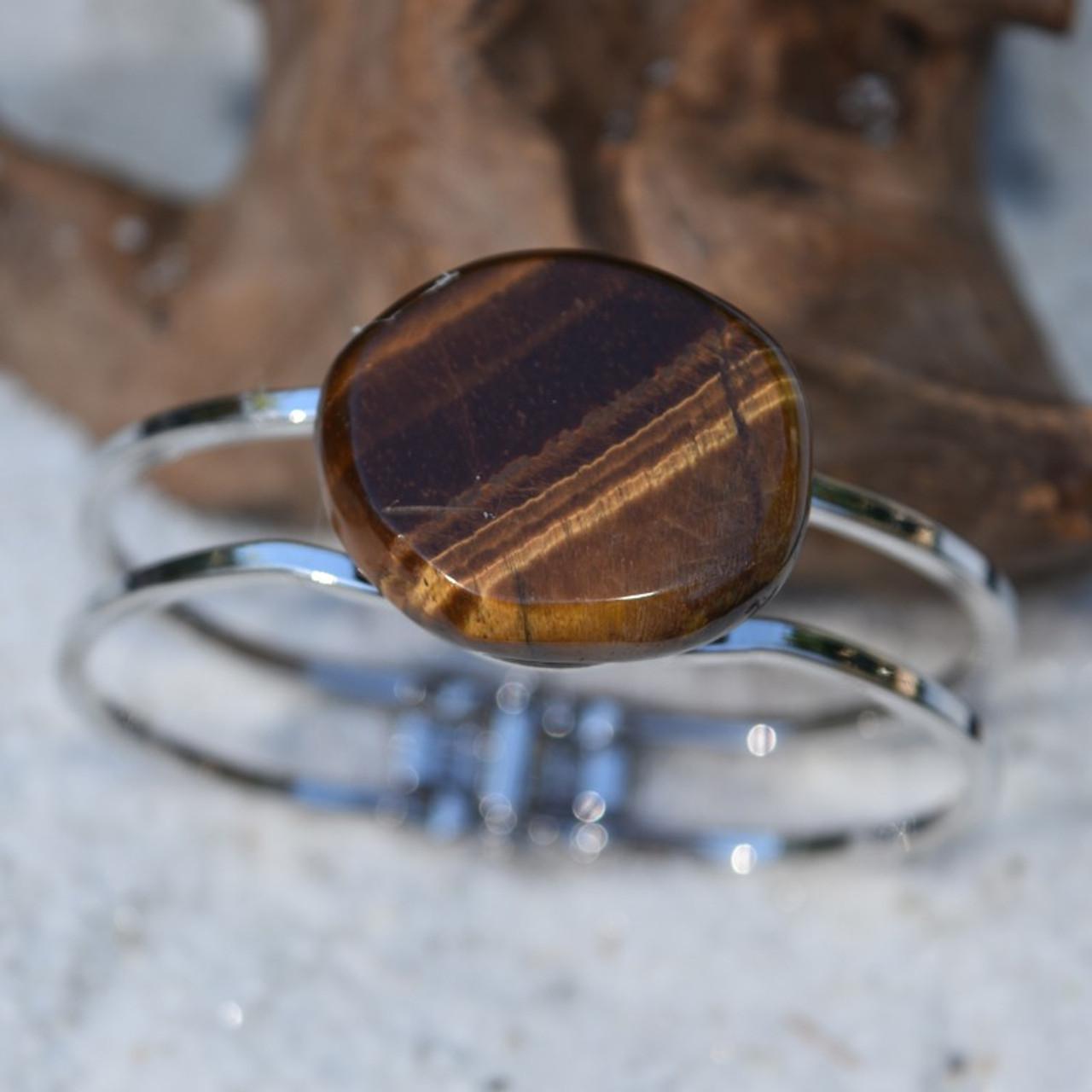 Gold Tiger's Eye Cuff Bracelet