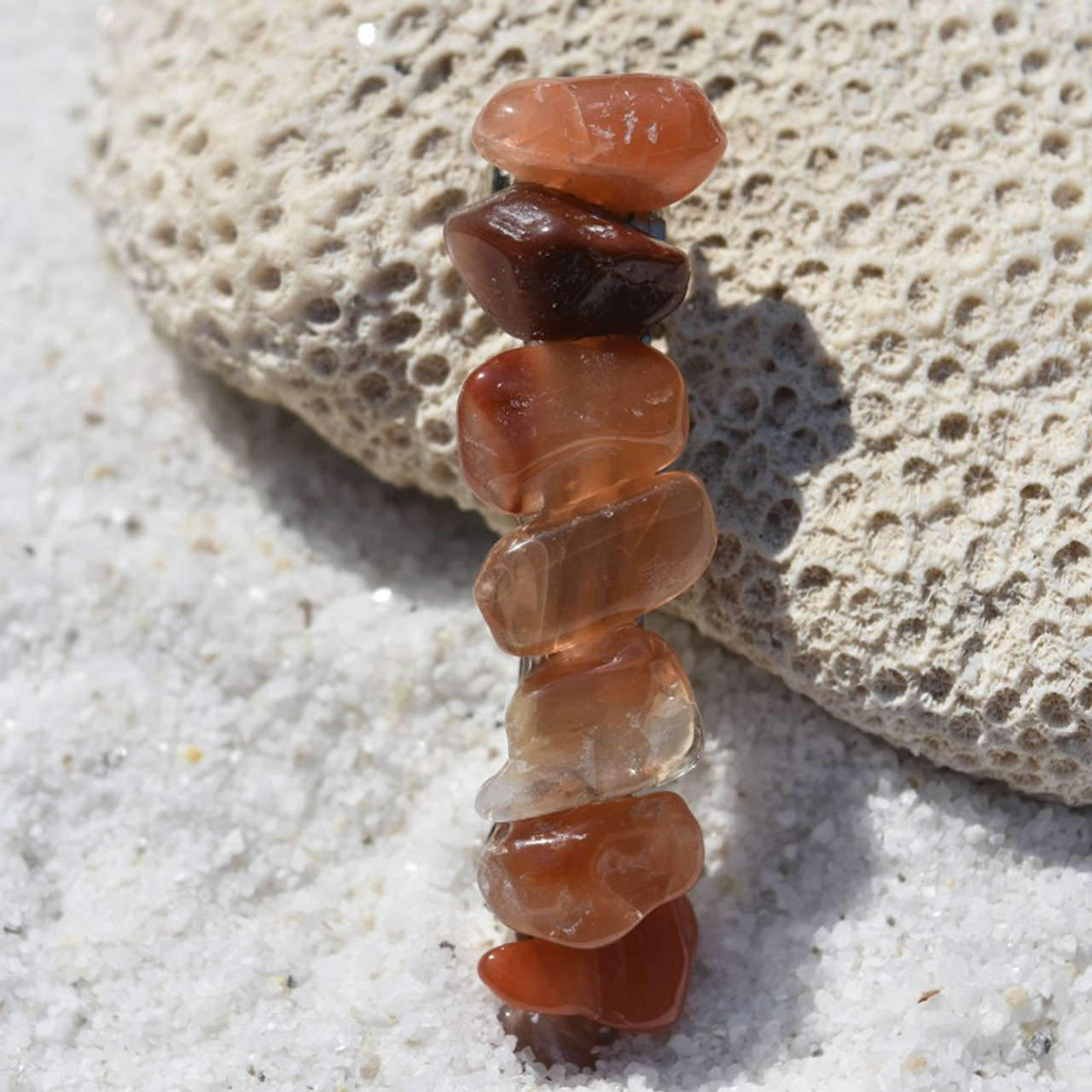Red Quartz Stone Barrette