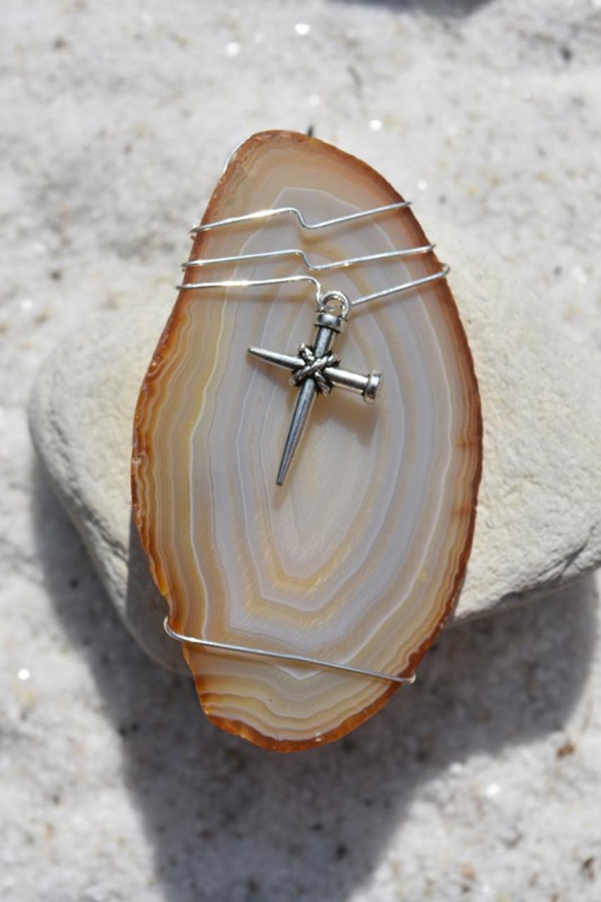 Nail Cross Christmas Ornament