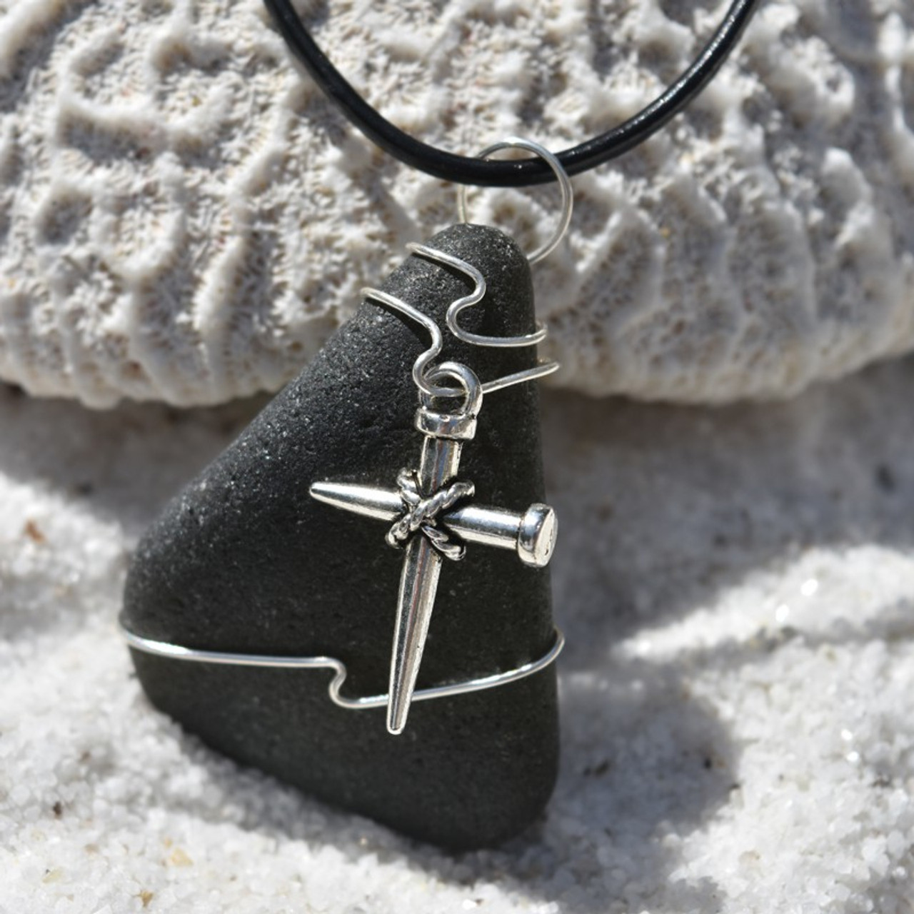 Nail Cross Pendant and Necklace
