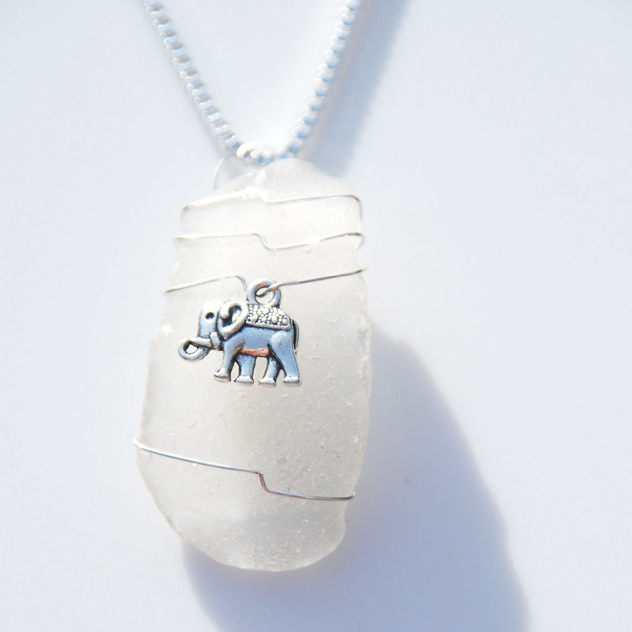 Elephant Pendant and Necklace