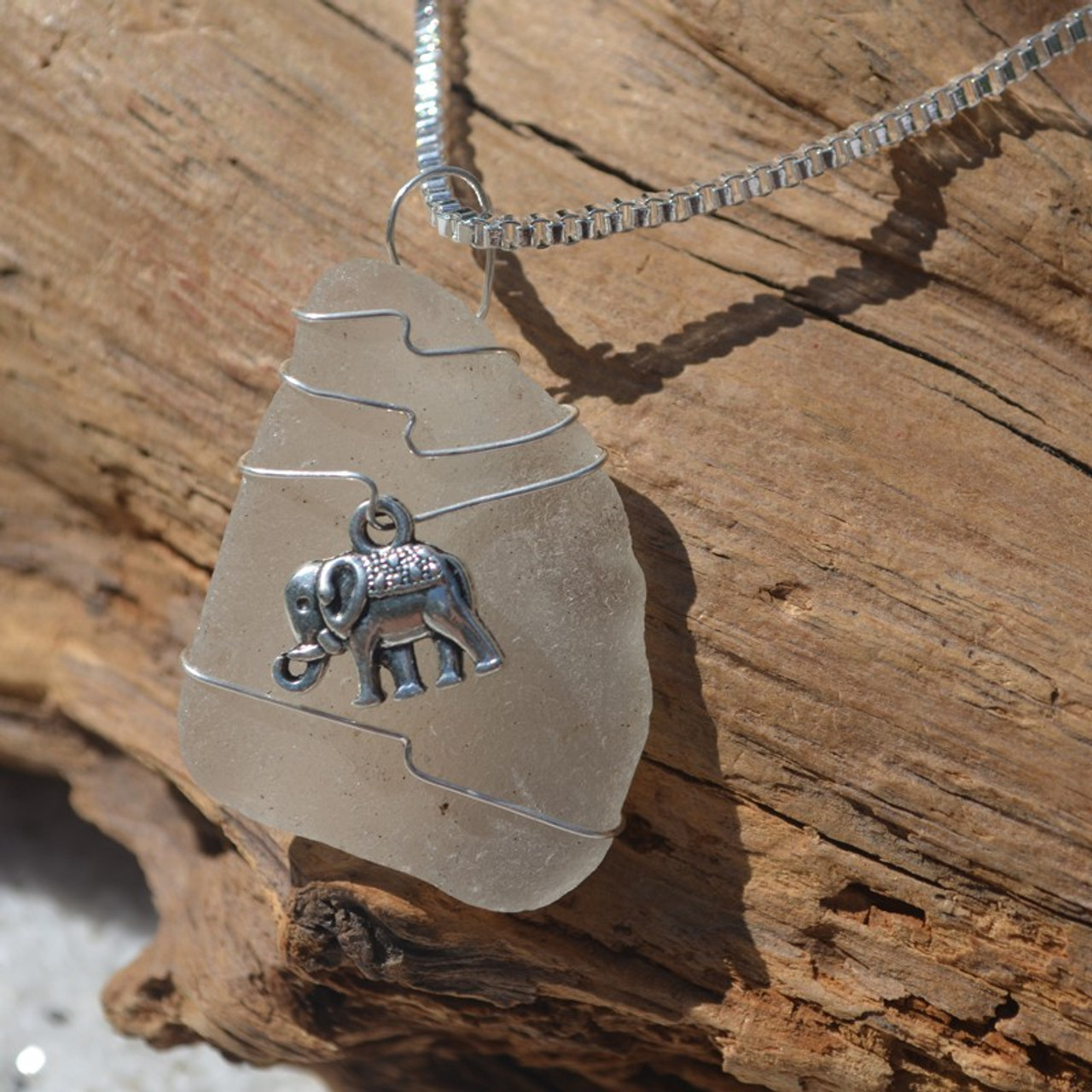 Wire Wrapped Elephant Necklace