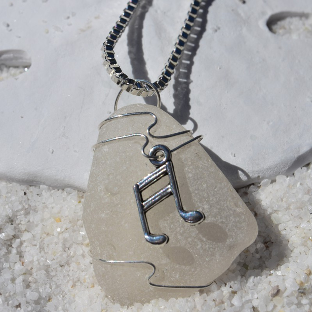 Wire Wrapped Singer Pendant and Necklace