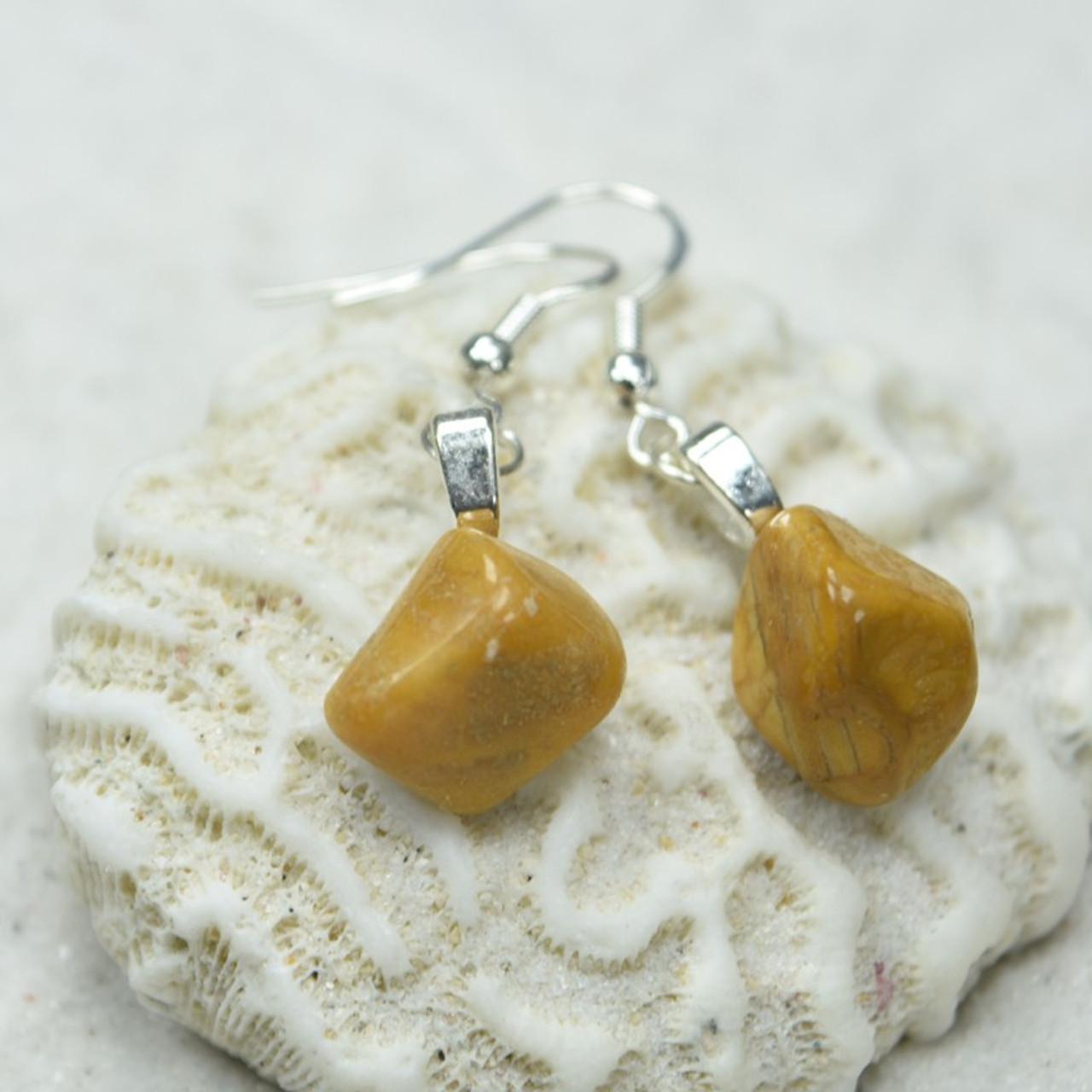 Yellow Jasper Stone Earrings