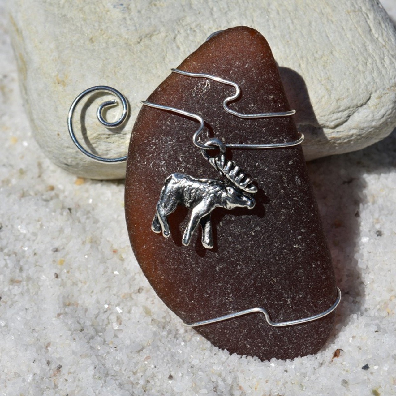 Wire Wrapped Moose Ornament