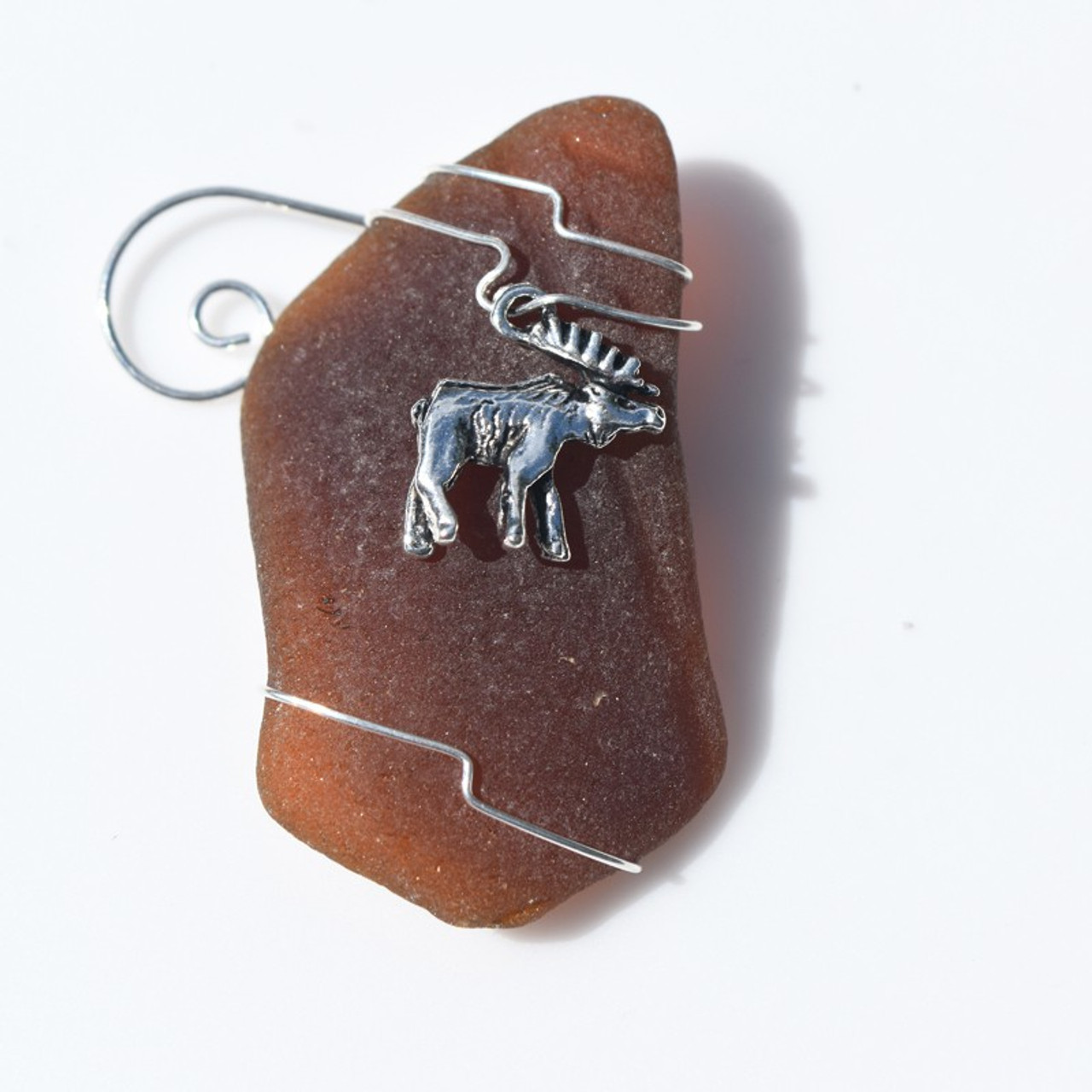 Wire Wrapepd Moose Ornament