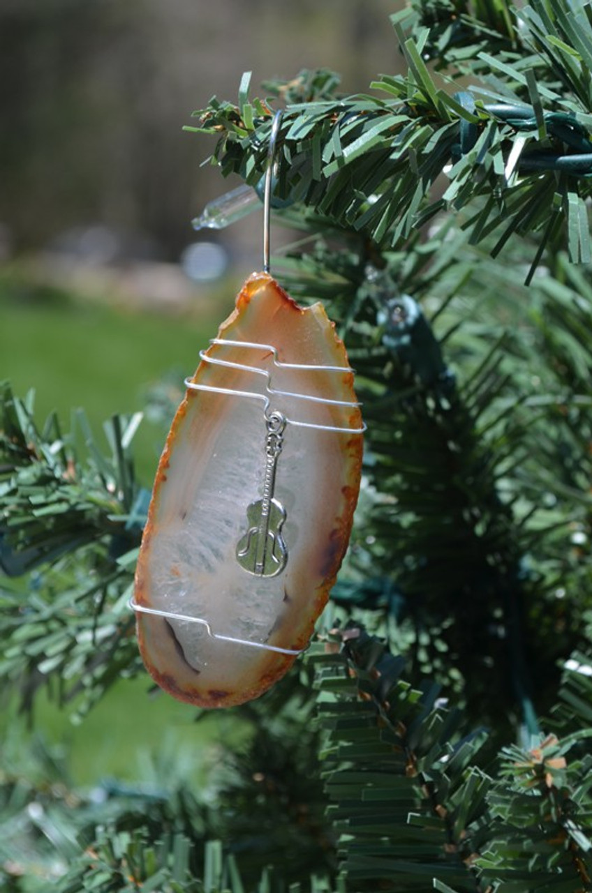 Wire Wrapped Guitar Ornament