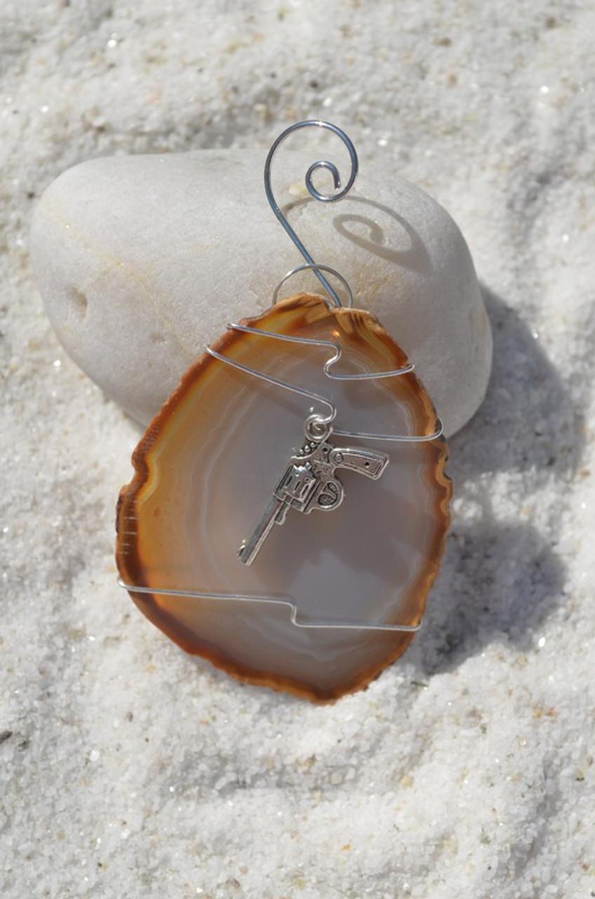 Wire Wrapped Gun Ornament