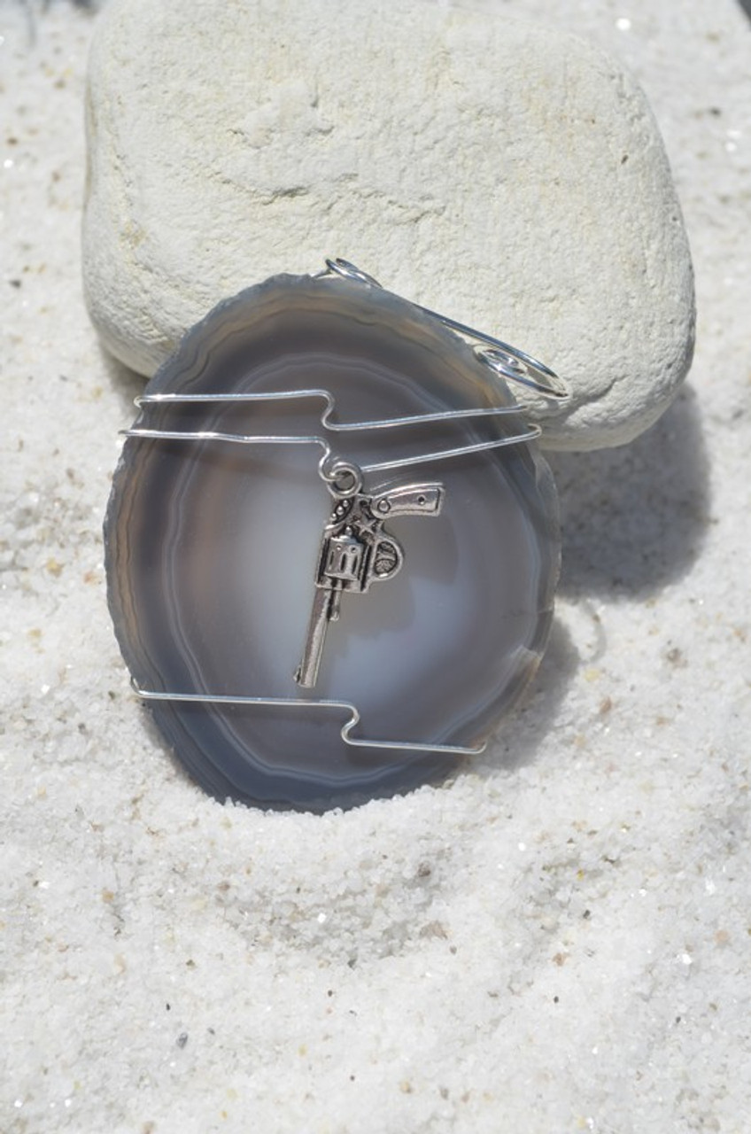 Wire Wrapped Gun Christmas Ornament