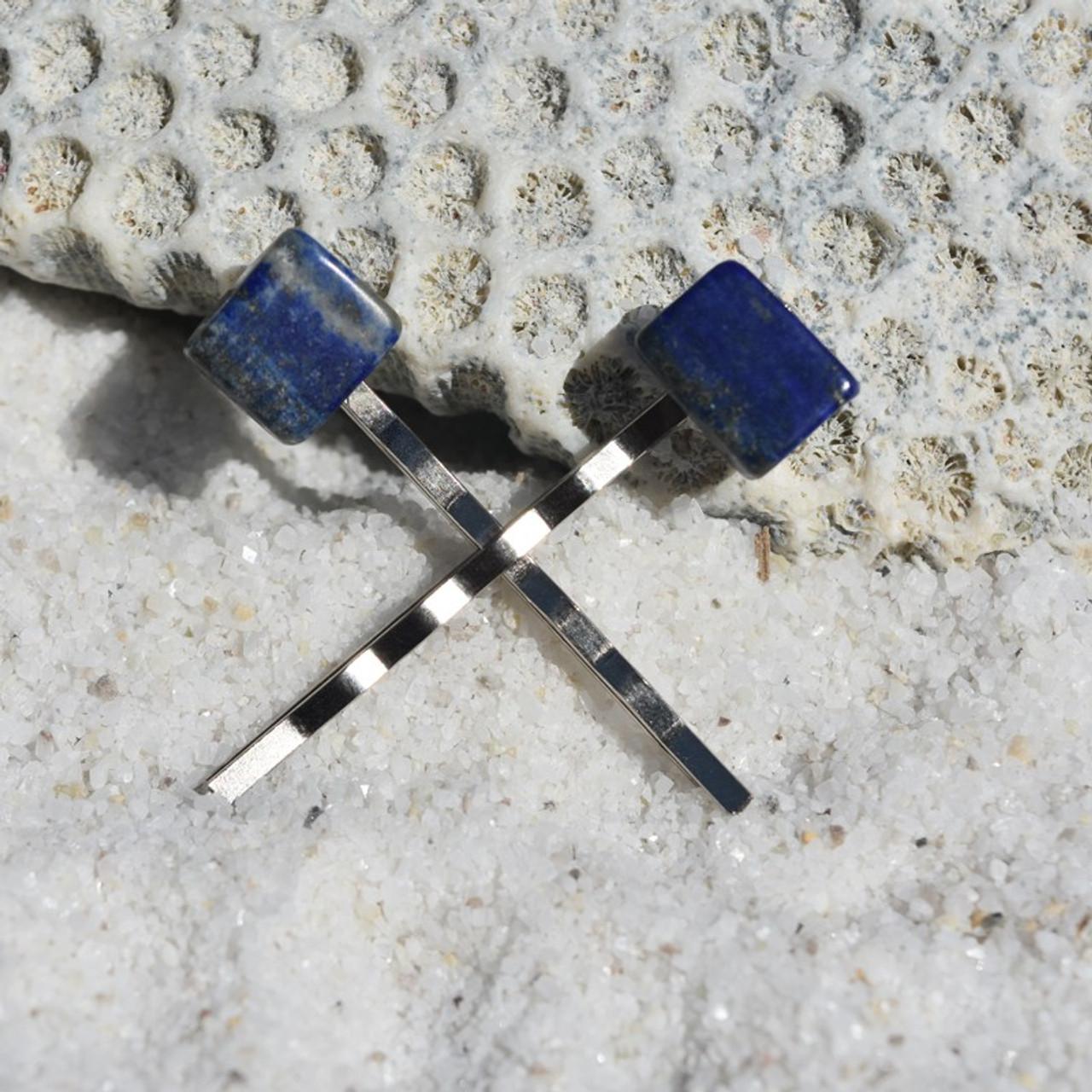 Lapis Lauzli Stone Hair Pins