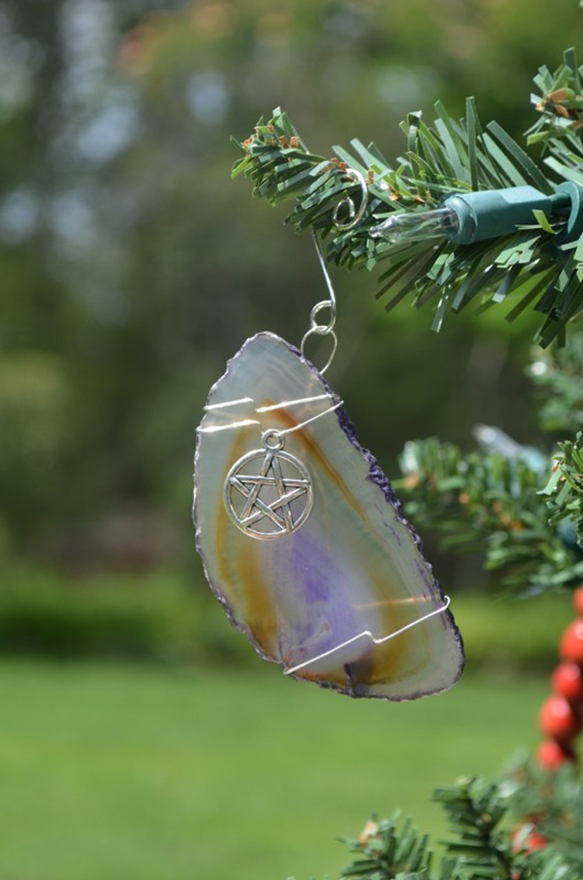 Pagan Wiccan Star Christmas Ornament