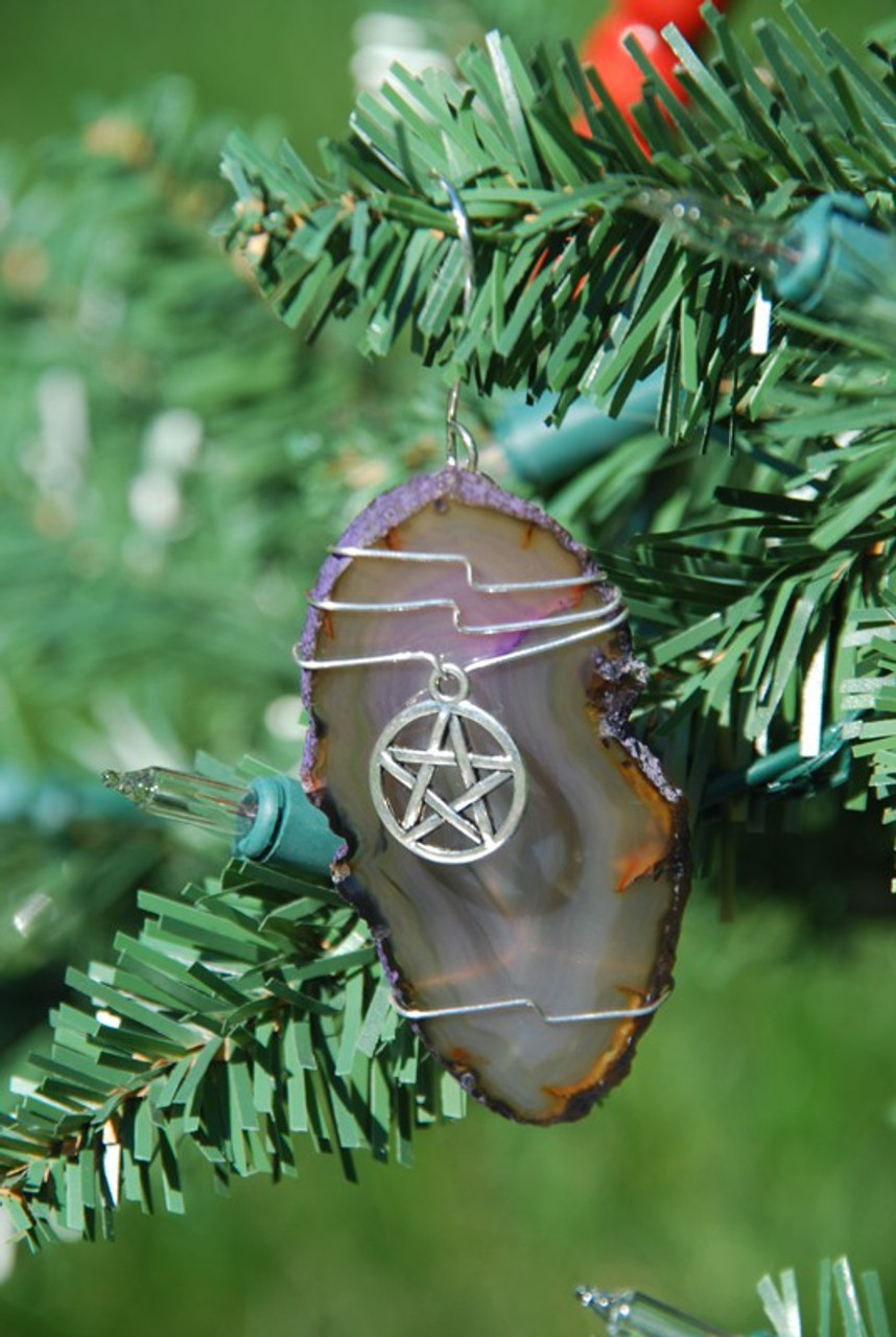 Wire Wrapped Pagan Wiccan Star Christmas Ornament