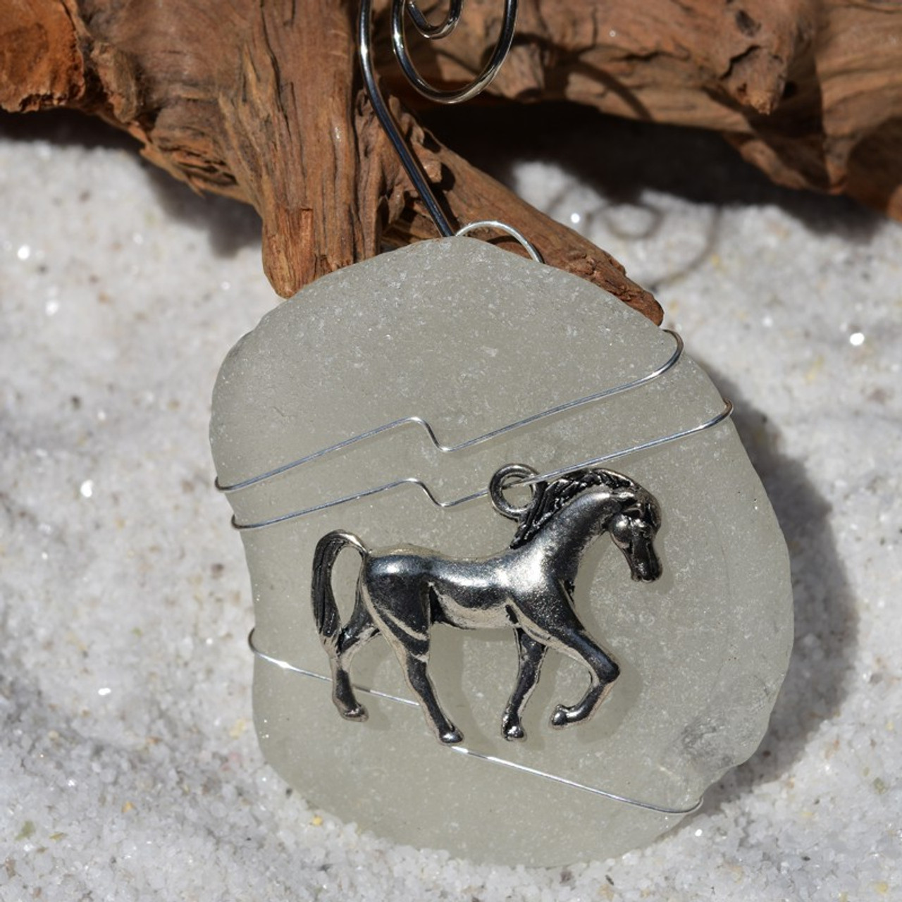 Wire Wrapped Horse Ornament