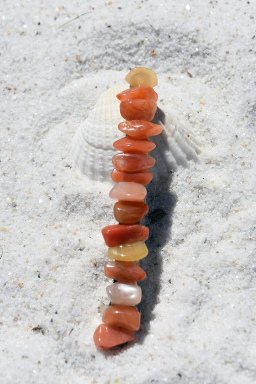 Peach Quartz Stone Barrette