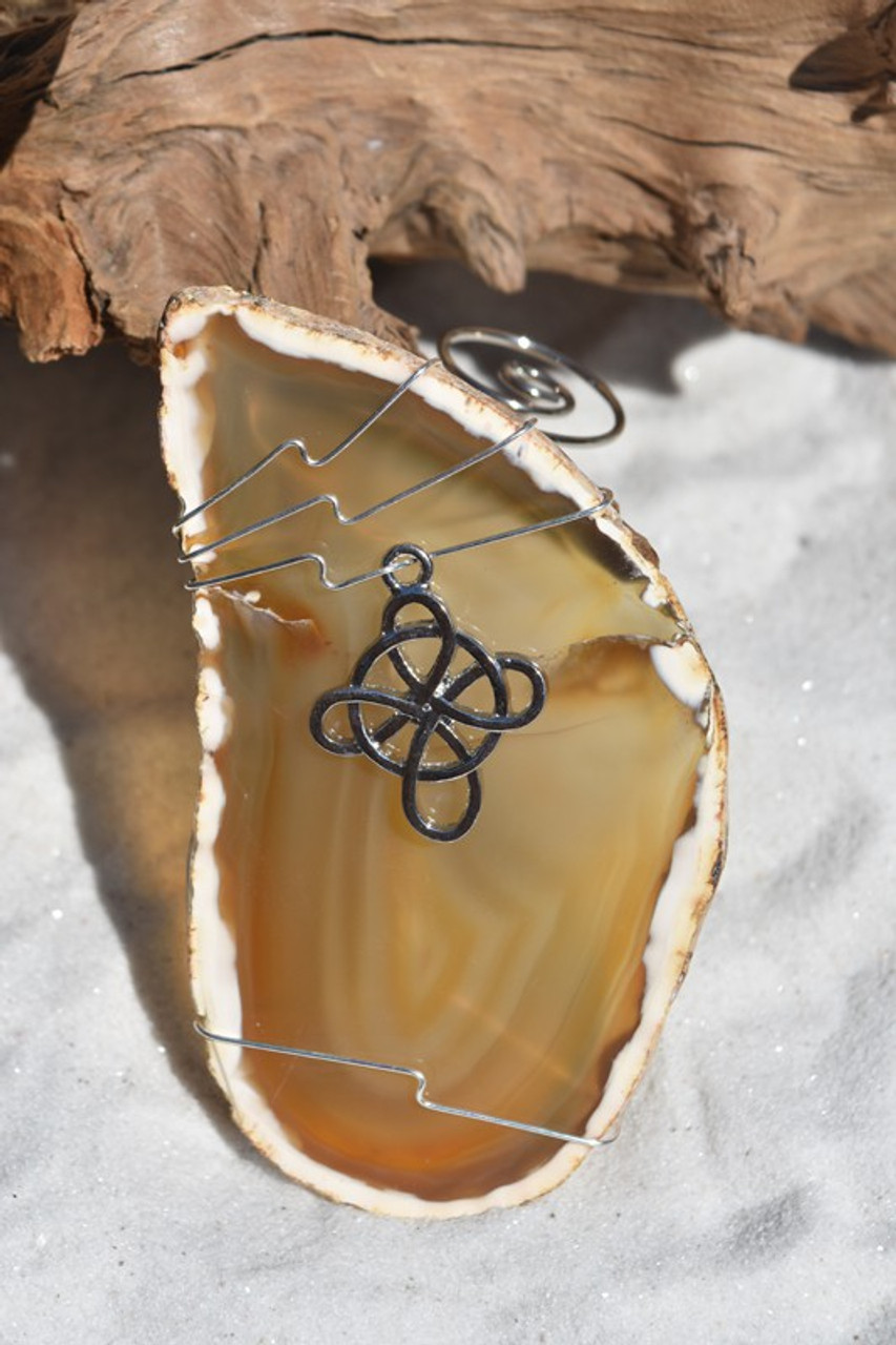 Wire Wrapped Celtic Cross Christmas Ornament