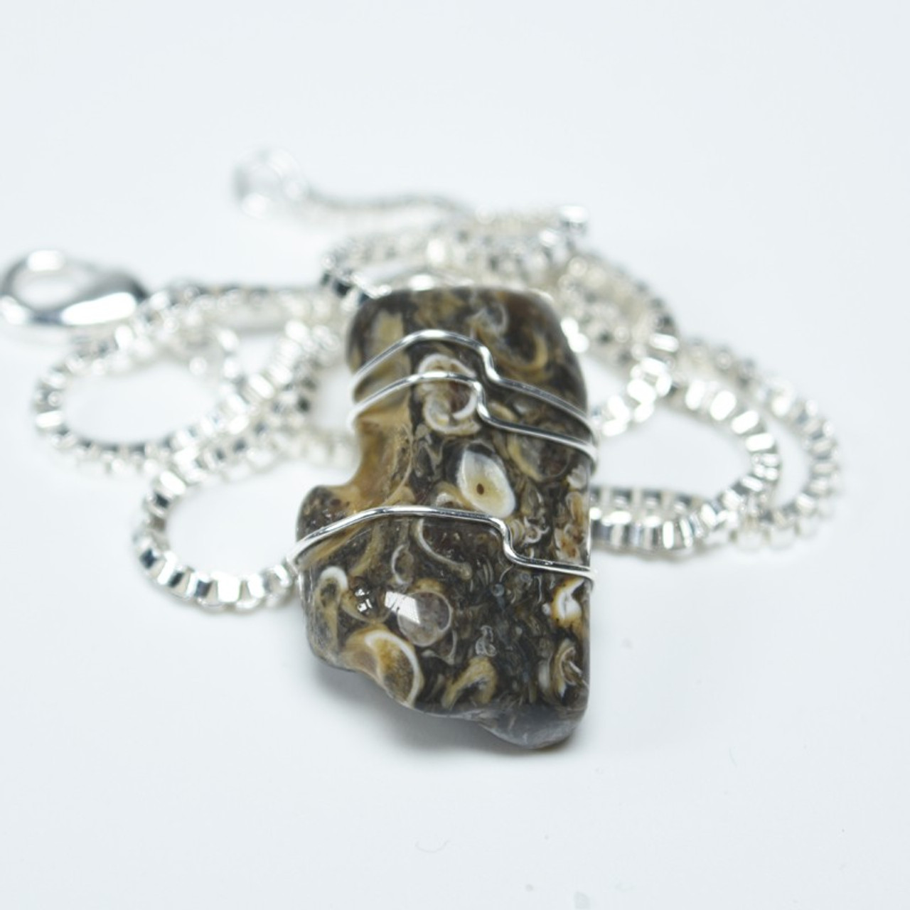 Turritella Stone Necklace