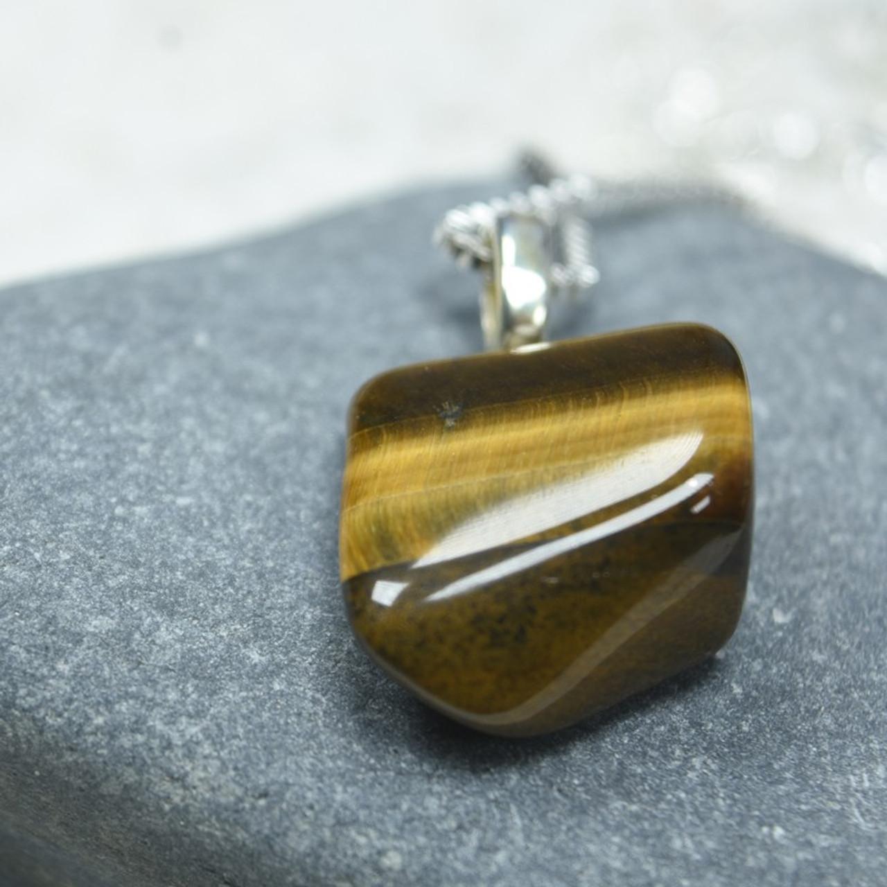 Tumbled Gold Tiger's Eye Stone Pendant