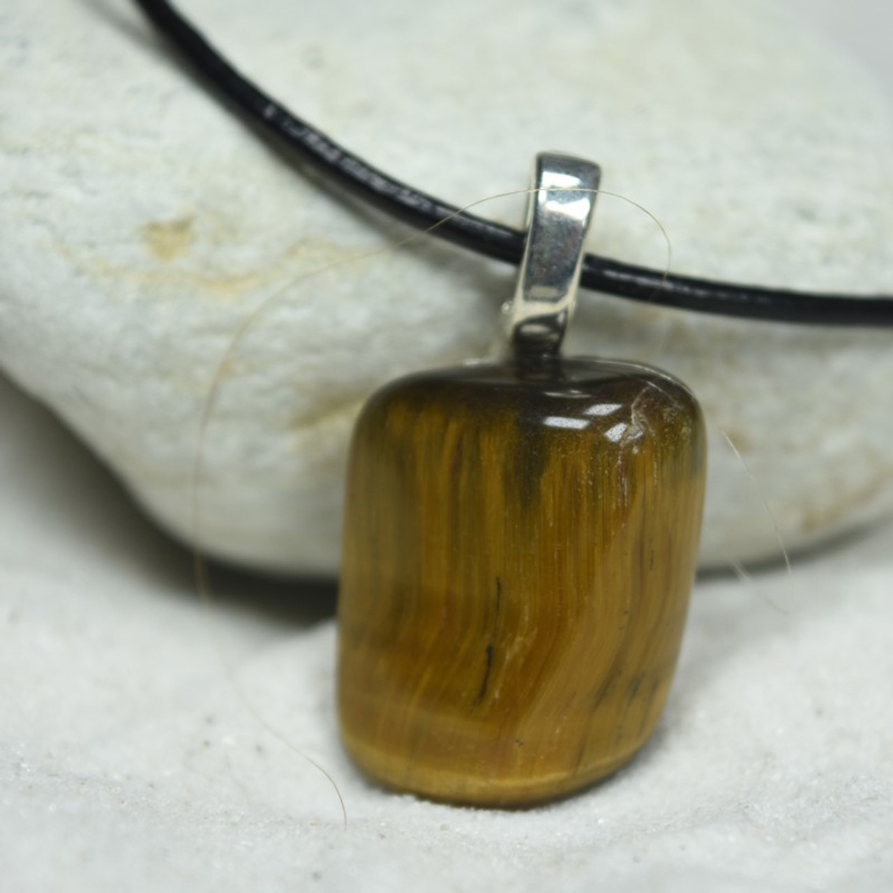 Gold Tiger's Eye Stone Necklace