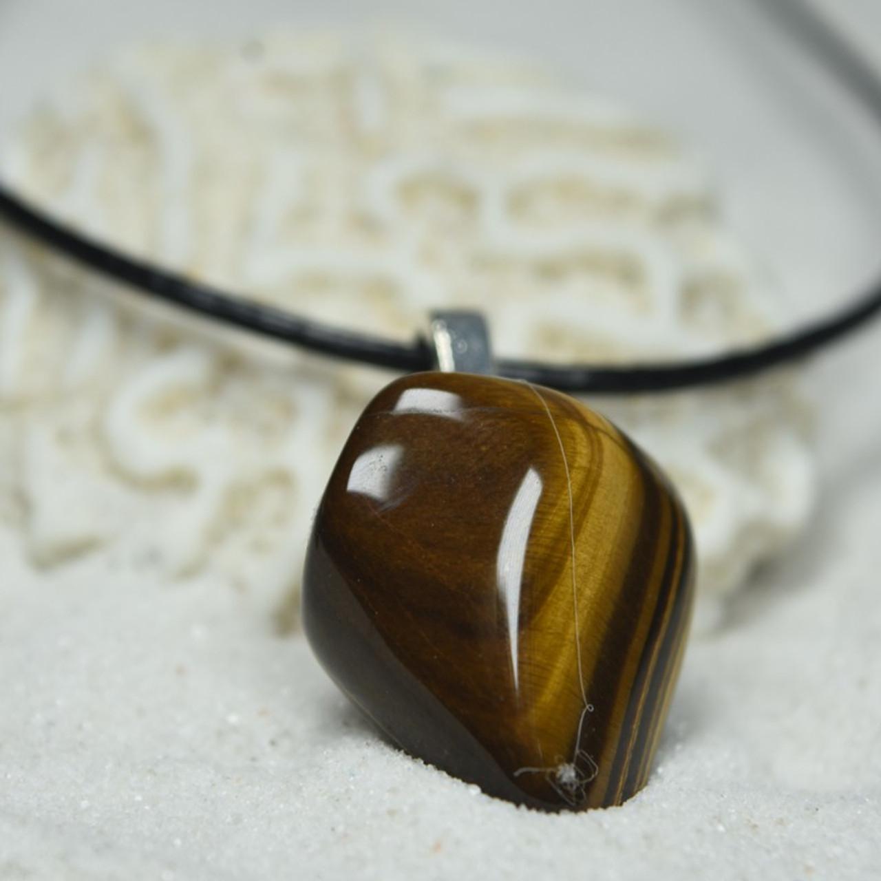 Gold Tiger's Eye Stone Pendant