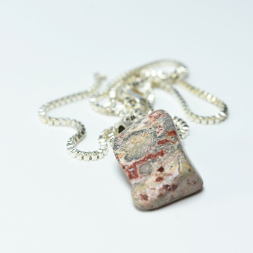 Leopard Skin Stone Necklace