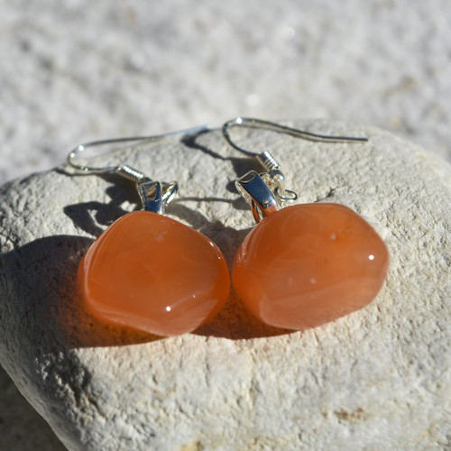 Carnelian Stone Dangling Earrings