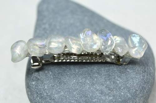 Tumbled Moonstone French Barrette