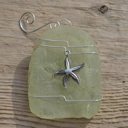 Starfish Sea Glass Christmas Ornament