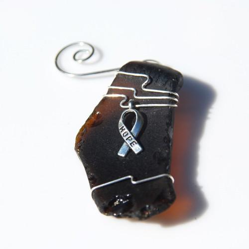 Hope Ribbon Ornament