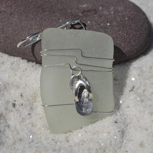 Flip Flop Sea Glass Ornament