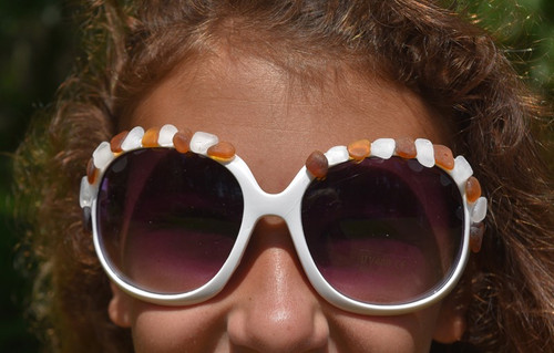 Brown and White Sea Glass Sunglasses