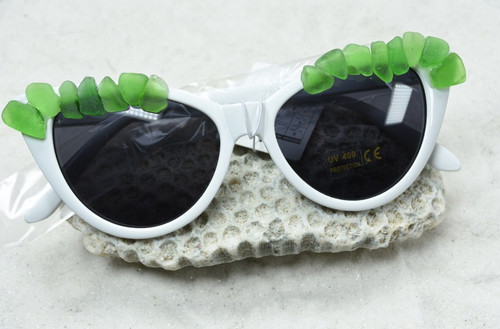 Green Sea Glass Cat's Eye Sunglasses