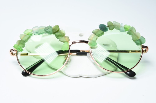 Couture Green Sea Glass Sunglasses