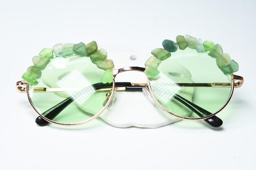 Couture Green Sea Glass Sunglasses