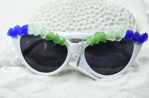 Colorful Sea Glass Cat's Eye Sunglasses
