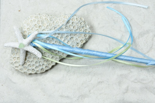 Aqua Blue Starfish Mermaid Magic Wand