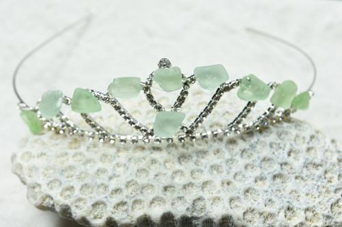 Aqua Sea Glass Tiara