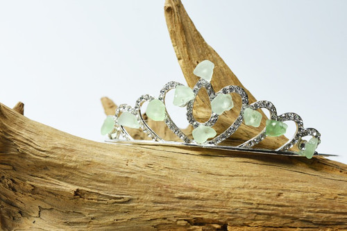 Aqua Sea Glass Crown