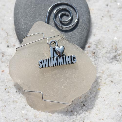 I Love Swimming Christmas Ornament