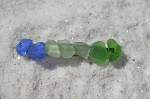 Colorful Sea Glass French Barrette