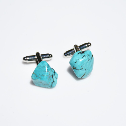 Tumbled Turquoise Cufflinks