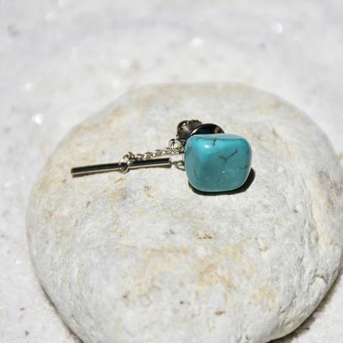 Turquoise Stone Tie Tack