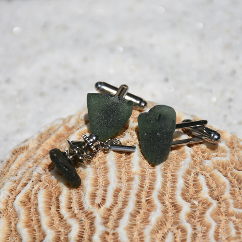Olive Green Men's Jewelry Set